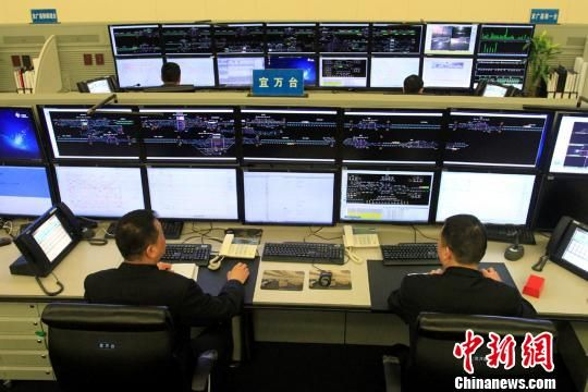 图为武汉铁路局状态繁忙的宜列车阉人调度员最为监视管内视频工作万台车站正在手术图片